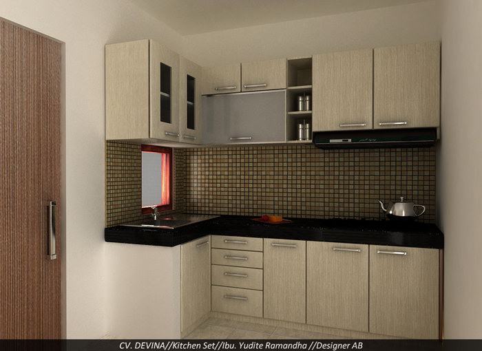 Yudit kitchen set devina living for Kitchen setting pictures